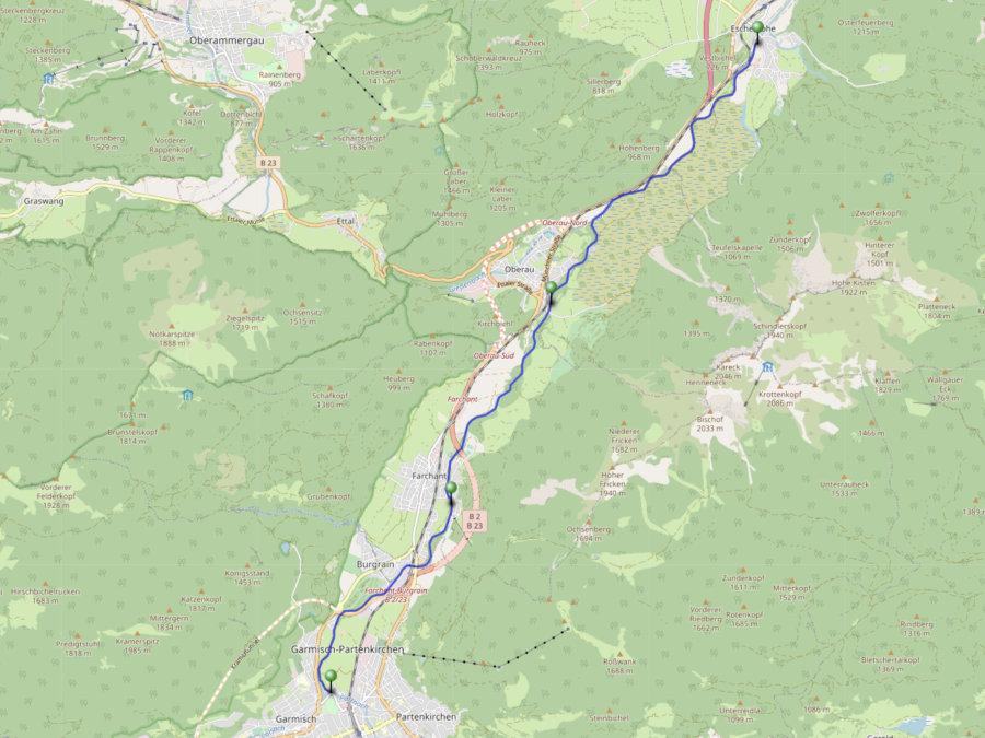 loisach wildwasser karte