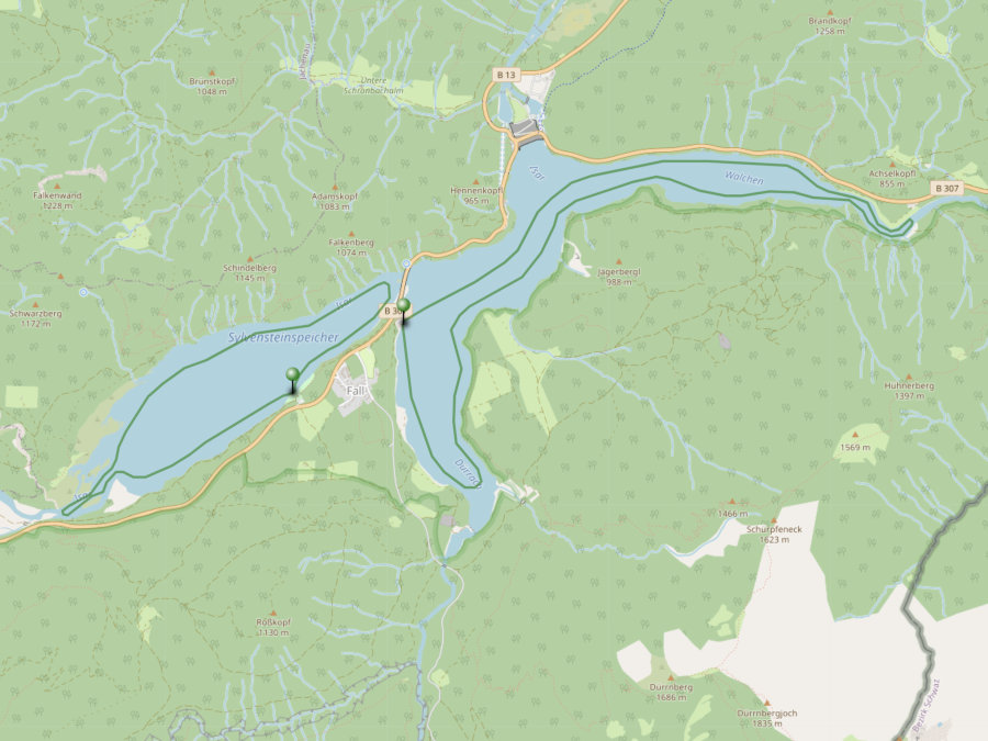 sylvensteinsee_karte