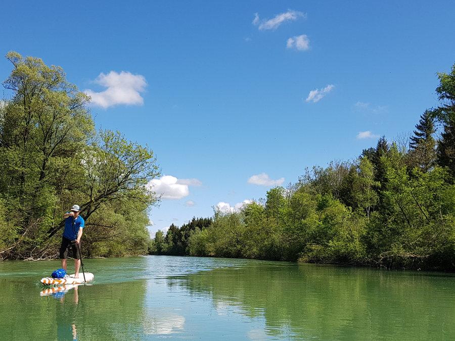 stand up paddling isar