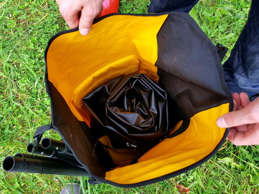 rucksack für packraft